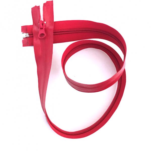 teilbarer Reißverschluss, 75cm, wasserabweisend, rot
